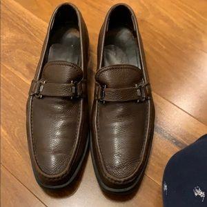 Brown Ferragamo loafers